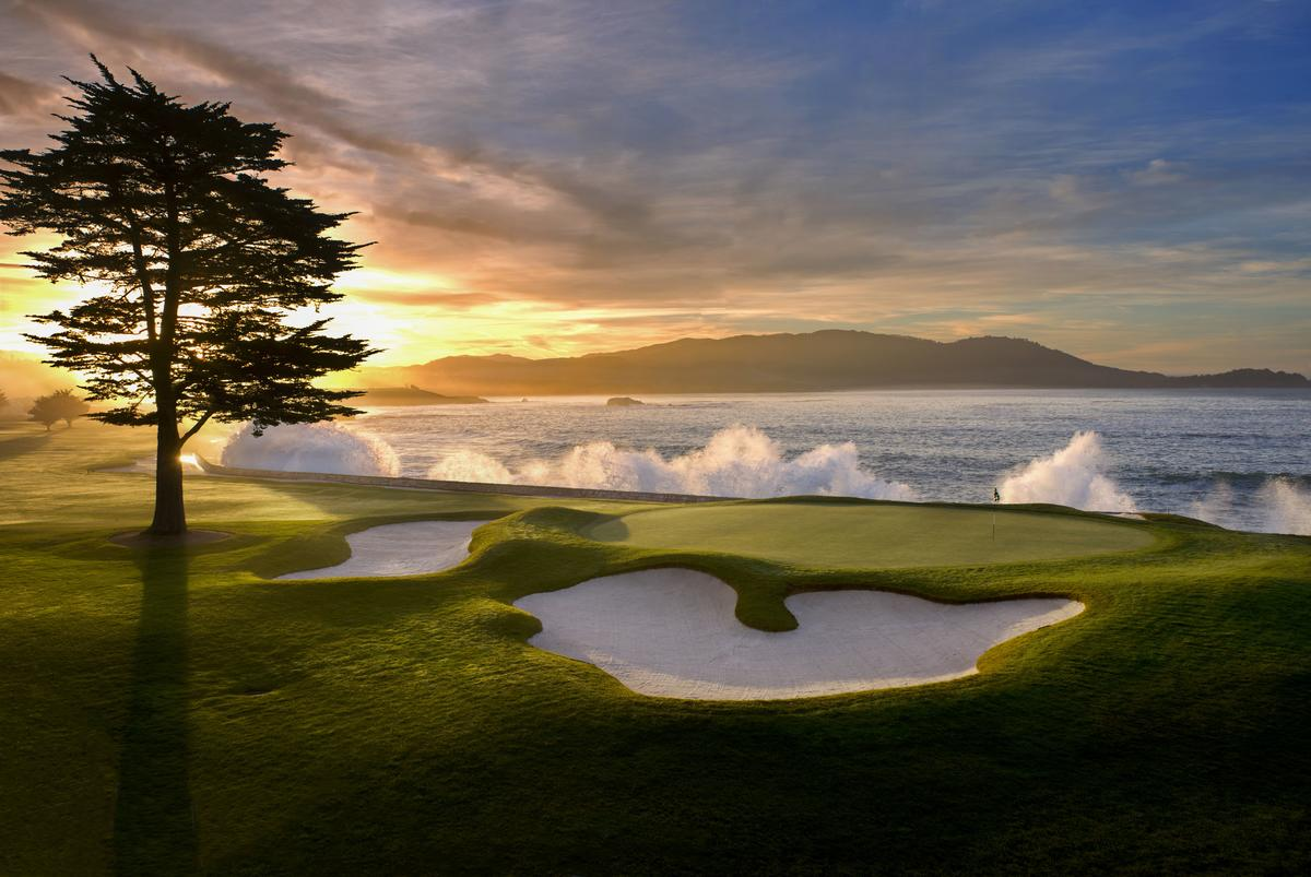 Pebble Beach Golf Links – 18th hole.
