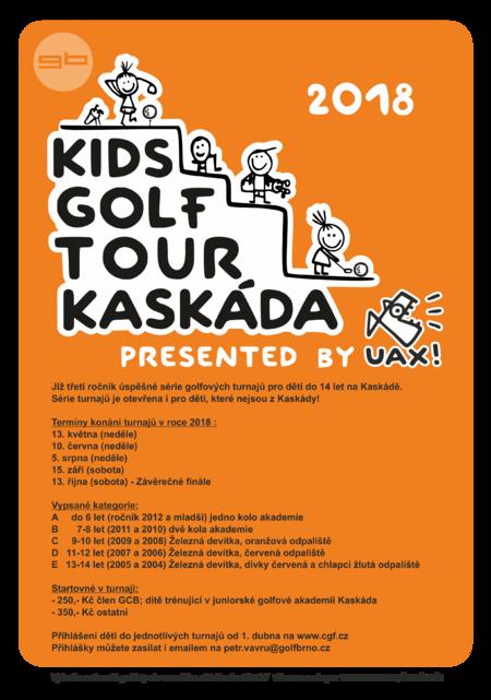kids golf kaskada uax present 2018 PLAKAT